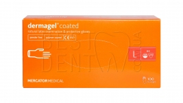 Перчатки DERMAGEL Coated,100шт/упак (L)