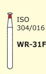 Алмазные боры для турбинного наконечника MANI WR-31F (красный  колесо, круглый край)