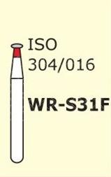 Алмазные боры для турбинного наконечника MANI WR-S31F (красный  колесо, круглый край)