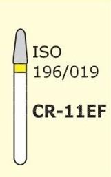 Алмазные боры для турбинного наконечника MANI CR-11EF (желтый  для препарирования)