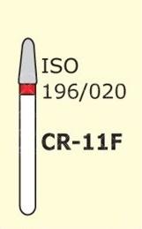 Алмазные боры для турбинного наконечника MANI CR-11F (красный  для препарирования)