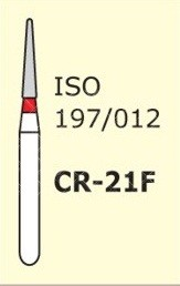 Алмазные боры для турбинного наконечника MANI CR-21F (красный  для препарирования)