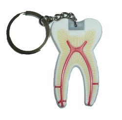 Брелок плоский резиновый зуб