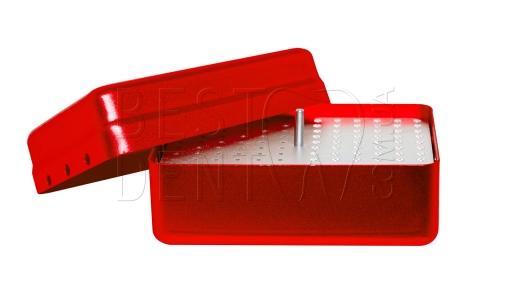 Стерилизатор для боров и эндо файлов (большой) 120отв, красный