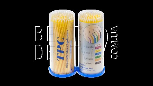 Аппликаторы (микробраши) TPC, 100шт/уп Fine желтый