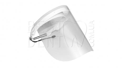 Маска - экран для защиты лица со сменными щитками (10 шт) белая