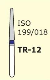 Алмазные боры для турбинного наконечника MANI TR-12 (синий  конусообразный, закругленный кончик)