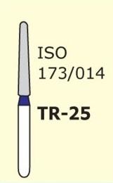 Алмазные боры для турбинного наконечника MANI TR-25 (синий  конусообразный, закругленный кончик)