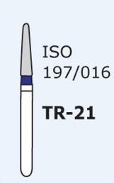 Алмазные боры для турбинного наконечника MANI TR-21 (синий  конусообразный, закругленный кончик)