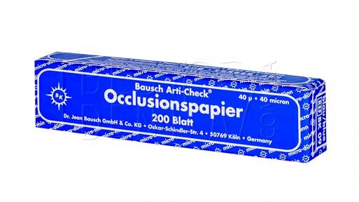 Бумага артикуляционная BK09 синяя 40мк.200шт