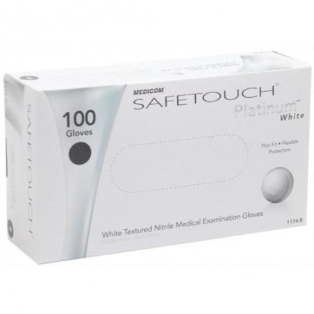Перчатки нитриловые MEDICOM SAFE TOUCH Platinum (Медиком Сейф Тач), 100шт/уп M