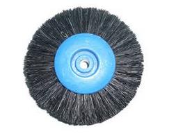 Щетка 4x-рядная,черный ворс,жесткая(син.)80мм. 4V80HWS