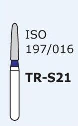 Алмазные боры для турбинного наконечника MANI TR-S21 (синий  конусообразный, закругленный кончик)