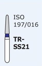 Алмазные боры для турбинного наконечника MANI TR-SS21 (синий  конусообразный, закругленный кончик)