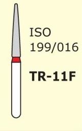 Алмазные боры для турбинного наконечника MANI TR-11F (красный конусообразный, закругленный кончик)
