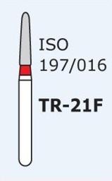 Алмазные боры для турбинного наконечника MANI TR-21F (красный конусообразный, закругленный кончик)