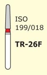 Алмазные боры для турбинного наконечника MANI TR-26F (красный конусообразный, закругленный кончик)