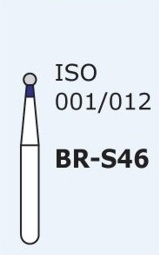 Алмазные боры для турбинного наконечника MANI BR-S46 (синий  шарообразный)