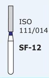 Алмазные боры для турбинного наконечника MANI SF-12 (синий  прямой, плоский кончик)