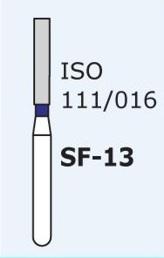Алмазные боры для турбинного наконечника MANI SF-13 (синий  прямой, плоский кончик)
