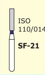 Алмазные боры для турбинного наконечника MANI SF-21 (синий  прямой, плоский кончик)