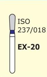 Алмазные боры для турбинного наконечника MANI EX-20 (синий специальная форма)