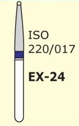 Алмазные боры для турбинного наконечника MANI EX-24 (синий специальная форма)