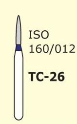 Алмазные боры для турбинного наконечника MANI TC-26 (синий конусообразный,  острый кончик)
