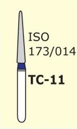 Алмазные боры для турбинного наконечника MANI TC-11 (синий конусообразный,  острый кончик)