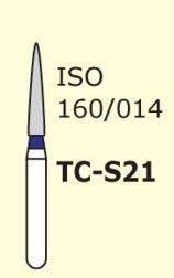 Алмазные боры для турбинного наконечника MANI TC-S21 (синий конусообразный,  острый кончик)