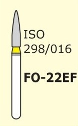 Алмазные боры для турбинного наконечника MANI FO-22EF (желтый  пламяобразный, стрельчатый кончик)