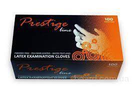 Перчатки латексные Prestige Line 100шт/уп S