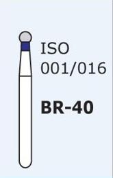 Алмазные боры для турбинного наконечника MANI BR-40 (синий  шарообразный)