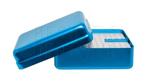 Стерилизатор для боров и эндо файлов (большой) 120отв, синий, эндолинейка