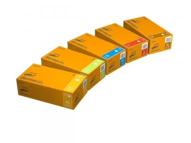 Перчатки DERMAGEL Classic,100шт/упак (L)