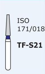 Алмазные боры для турбинного наконечника MANI TF-S21 (синий  конусообразный, плоский кончик)