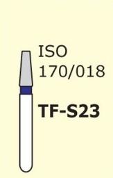 Алмазные боры для турбинного наконечника MANI TF-S23 (синий  конусообразный, плоский кончик)
