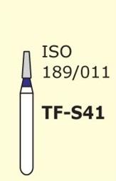Алмазные боры для турбинного наконечника MANI TF-S41 (синий  конусообразный, плоский кончик)