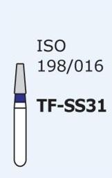 Алмазные боры для турбинного наконечника MANI TF-SS31 (синий  конусообразный, плоский кончик)