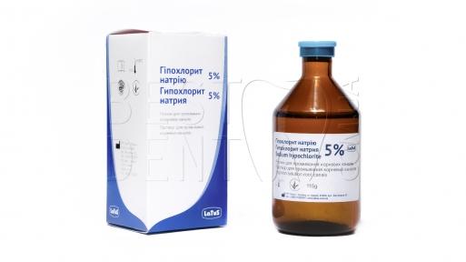 Гипохлорит натрия 5% д/промив.к-лов, 115г (Латус)