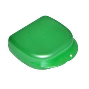Коробка для ортодонтических и ортопедических констр. с отверстиями T-B-7 зеленая